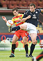 14/08/2010   Copyright  Pic : James Stewart.sct_jsp011_partick_th_v_dundee  .::  LIAM BUCHANAN IS CHALLENGED BU DUNDEE'S CRAIG MCKEOWN ::.James Stewart Photography 19 Carronlea Drive, Falkirk. FK2 8DN      Vat Reg No. 607 6932 25.Telephone      : +44 (0)1324 570291 .Mobile              : +44 (0)7721 416997.E-mail  :  jim@jspa.co.uk.If you require further information then contact Jim Stewart on any of the numbers above.........