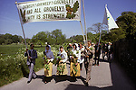 Grovely Forest Rights Great Wishford or Wishford Magna, Wiltshire Annual village event upholding Commoners ancient rights 1980s UK
