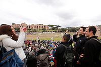 """Manifestazione """"Family Day"""" al Circo Massimo, in sostegno della famiglia tradizionale, contro la legge sulle unioni civili in discussione al Senato, Roma, 30 gennaio 2016.<br /> Priests attend the """"Family Day"""" rally at the Circus Maximus, in support of traditional family, against civil unions proposed law in discussion at the Italian Parliament, Rome, 30 January 2016.<br /> UPDATE IMAGES PRESS/Riccardo De Luca"""