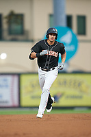 Jupiter Hammerheads JJ Bleday rounds the bases after hitting a home run during a Florida State League game against the Lakeland Flying Tigers on August 12, 2019 at Roger Dean Chevrolet Stadium in Jupiter, Florida.  Jupiter defeated Lakeland 9-3.  (Mike Janes/Four Seam Images)