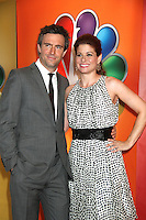 Jack Davenport and Debra Messing at NBC's Upfront Presentation at Radio City Music Hall on May 14, 2012 in New York City. ©RW/MediaPunch Inc.