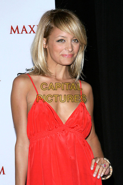 NICOLE RICHIE.Maxim Magazine's Hot 100 held at the Montmartre Lounge. Hollywood, California.May 14th, 2005.Photo Credit: Jacqui Wong/AdMedia.half length red dress plunging neckline ring.www.capitalpictures.com.sales@capitalpictures.com.© Capital Pictures.