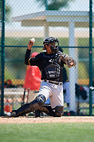 Pittsburgh Pirates Raul Hernandez (32) during a minor league Spring Training game against the Atlanta Braves on March 13, 2018 at Pirate City in Bradenton, Florida.  (Mike Janes/Four Seam Images)