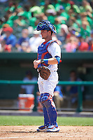 South Bend Cubs catcher Alberto Mineo (47) during the first game of a doubleheader against the Peoria Chiefs on July 25, 2016 at Four Winds Field in South Bend, Indiana.  South Bend defeated Peoria 9-8.  (Mike Janes/Four Seam Images)