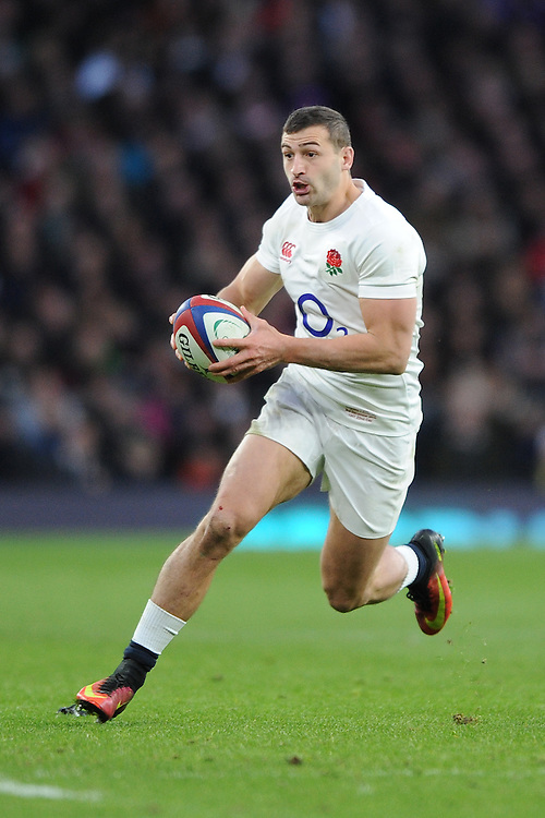 Jonny May of England in action during the Old Mutual Wealth Series match between England and Australia at Twickenham Stadium on Saturday 3rd December 2016 (Photo by Rob Munro)
