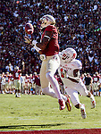 FSU wide receiver Kelvin Benjamin hauls in a touchdown pass when the Florida State Seminoles defeated the North Carolina State Wolfpack 49-17 in their NCAA football game  in Tallahassee, Florida.