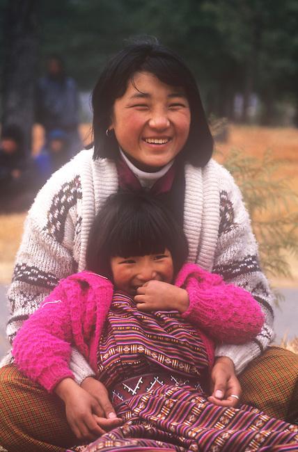 Mother & Daughter, Paro, Bhutan