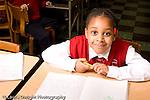 Parochial School Bronx New York  Kindergarten portrait of girl horizontal