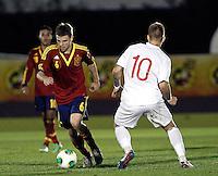 Spain's Illarramendi and Norway's Pedersen during an International sub21 match. March 21, 2013.(ALTERPHOTOS/Alconada) /NortePhoto