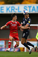 Sam Lavelle of Morecambe and Tom Nichols of Crawley Town during Crawley Town vs Morecambe, Sky Bet EFL League 2 Football at Broadfield Stadium on 17th October 2020