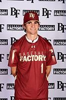 J.C. Dyer (1) of Desert Ridge High School in Mesa, Arizona during the Baseball Factory All-America Pre-Season Tournament, powered by Under Armour, on January 12, 2018 at Sloan Park Complex in Mesa, Arizona.  (Mike Janes/Four Seam Images)
