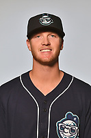 Asheville Tourists infielder Taylor Snyder (28) poses for a photo at Story Point Media on April 4, 2017 in Asheville, North Carolina. (Tony Farlow/Four Seam Images)