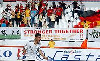 Kaan Ayhan of Germany celebrates the victory after the UEFA U-17 championship semi final match between Denmark and Germany on May 12, 2011 in Novi Sad, Serbia. (Photo by Srdjan Stevanovic/Starsportphoto.com)