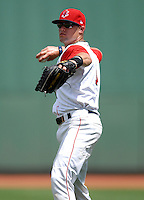 Lowell Spinners' OF BRYCE BRENTZ during a game vs. the Jamestown Jammers at Fenway Park in Boston, Massachusetts July 10, 2010.    Photo By Ken Babbitt/Four Seam Images