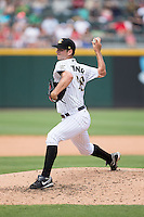 Charlotte Knights starting pitcher Jacob Turner (28) in action against the Indianapolis Indians at BB&T BallPark on June 19, 2016 in Charlotte, North Carolina.  The Indians defeated the Knights 6-3.  (Brian Westerholt/Four Seam Images)