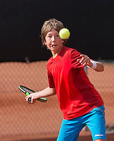 Netherlands, Rotterdam August 05, 2015, Tennis,  National Junior Championships, NJK, TV Victoria, Luca van den Berg   Luka Novakovic<br /> Photo: Tennisimages/Henk Koster