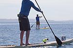 Port Townsend, Rat Island Regatta, Arran Stark, Sam Cunard, SUP, standup paddlers, racing, Sam Cunard; Alison Cunard, SUP, Sound Rowers, Rat Island Rowing Club, Puget Sound, Olympic Peninsula, Washington State, water sports, rowing, kayaking, competition,