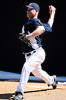 February 25, 2010:  Pitcher Chad Gaudin of the New York Yankees during practice at Legends Field in Tampa, FL.  Photo By Mike Janes/Four Seam Images