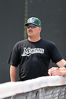 Jamestown Jammers John Duffy during a NY-Penn League game at Russell Diethrick Park on July 1, 2006 in Jamestown, New York.  (Mike Janes/Four Seam Images)