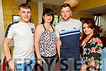 Seamus McCarthy, Mags Sweeney, Kieran Shanahan and Chelsea Dowling enjoying the evening in the Brogue Inn on Saturday.