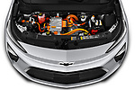 Car Stock 2022 Chevrolet Bolt-EUV LT 5 Door suv Engine  high angle detail view