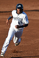 West Michigan Whitecaps third baseman Francisco Contreras (29) running the bases during a game against the Great Lakes Loons on June 5, 2014 at Fifth Third Ballpark in Comstock Park, Michigan.  West Michigan defeated Great Lakes 6-2.  (Mike Janes/Four Seam Images)