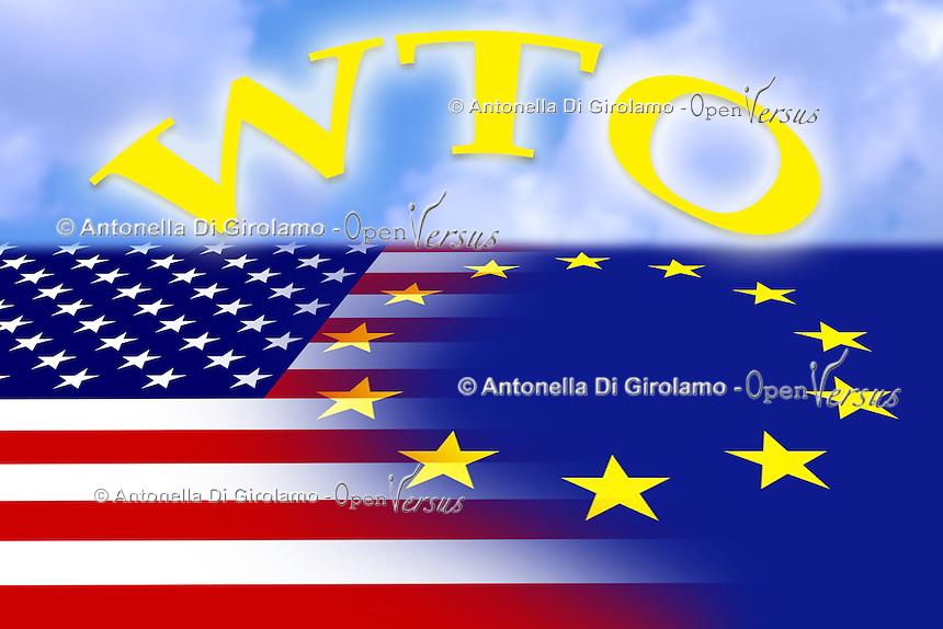 Stati Uniti d' America e Europa.United States of America and Europe.Accordi Wto...
