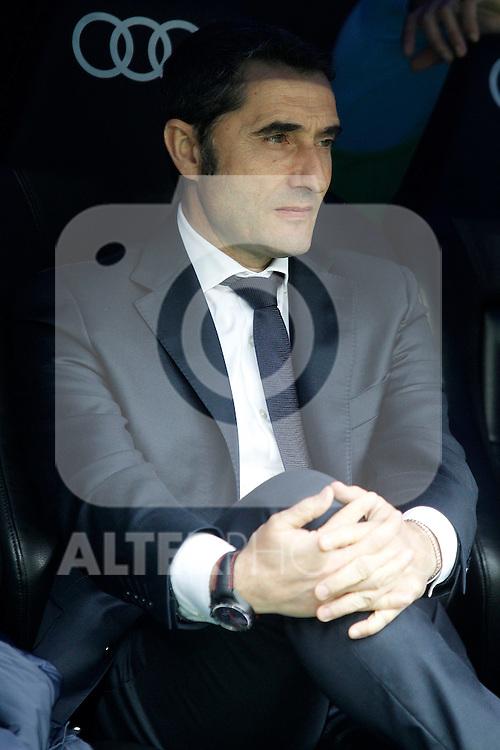 Athletic de Bilbao's coach Ernesto Valverde during La Liga match. February 13,2016. (ALTERPHOTOS/Acero)