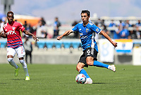 SAN JOSE, CA - APRIL 24: Shea Salinas #6 of San Jose Earthquakes moves with the ball during a game between FC Dallas and San Jose Earthquakes at PayPal Stadium on April 24, 2021 in San Jose, California.