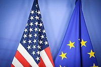 US and EU flags seen during Treasury Secretary Jack Lew  a press conference after a meeting at EU Commission headquarters in Brussels, Belgium on 26.01.2015 Lew said the US economy still needs pushing to continue growth, and that US alone could not lead global economic recovery. Reports also state Lew said Greece is moving on to solve their problems after having to make tough decisions. In the meantime, European financial markets on Monday shrugged off the news that the anti-austerity SYRIZA party had emerged as the victor in Greece's national election, with both shares and the euro gaining ground. by Wiktor Dabkowski
