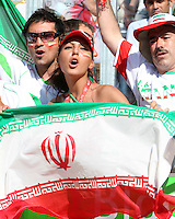 Iranian fans. Mexico defeated Iran 3-1 during a World Cup Group D match at Franken-Stadion, Nuremberg, Germany on Sunday June 11, 2006.