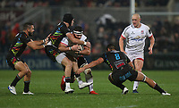 Friday 1st November 2019 | Ulster Rugby vs Zebre Rugby<br /> <br /> Marcell Coetzee is tackled by George Biagi during the PRO14 Round 5 clash between Ulster Rugby and Zebre Rugby at Kingspan Stadium, Ravenhill Park, Belfast, Northern Ireland. Photo by John Dickson / DICKSONDIGITAL