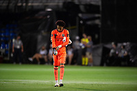 LAKE BUENA VISTA, FL - AUGUST 11: Pedro Gallese #1 of Orlando City SC walking to his post before a game between Orlando City SC and Portland Timbers at ESPN Wide World of Sports on August 11, 2020 in Lake Buena Vista, Florida.
