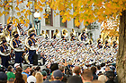Oct. 22, 2011; The Notre Dame Marching Band peforms their pregame Concert on the Steps at Bond Hall...Photo by Matt Cashore/University of Notre Dame