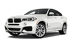 Stock pictures of low aggressive front three quarter view of 2018 BMW X6 sDrive35i 5 Door SUV Low Aggressive