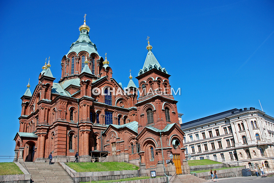 Catedral Ortodoxa em Helsinki. Finlândia. 2007. Foto de Vinicius Romanini.