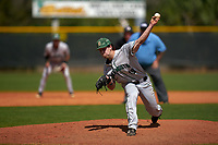 Dartmouth Big Green pitcher Max Hunter (19) during a game against the Omaha Mavericks on February 23, 2020 at North Charlotte Regional Park in Port Charlotte, Florida.  Dartmouth defeated Omaha 8-1.  (Mike Janes/Four Seam Images)