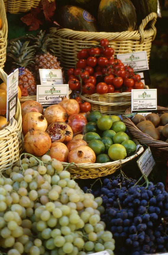 Detail of village fruit market, Avignon, France