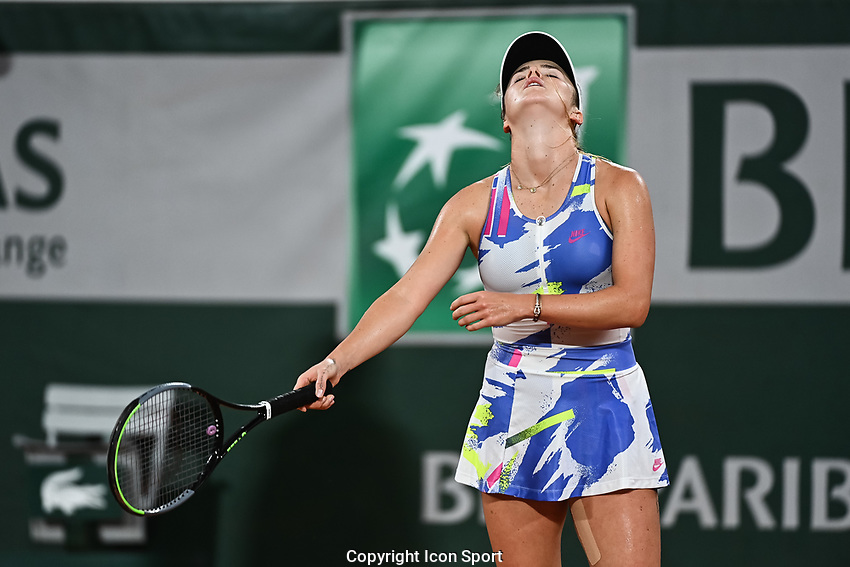 Elina SVITOLINA of Ukraine looks dejected during the day four of the Tennis French Open on September 30, 2020 in Paris, France. (Photo by Baptiste Fernandez/Icon Sport) - Elina SVITOLINA - Roland Garros - Paris (France)