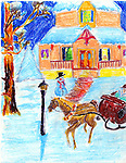 Holiday card designed by Shewan K. Fernando of Jackson Middle School.