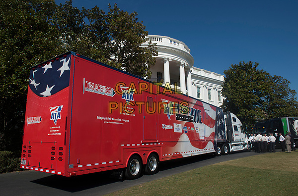 March 23, 2017 - Washington, D.C., United States: President Donald Trump welcomes members of the American Trucking Associations on at the South Portico of the White House prior to their listening session on health care.  <br /> CAP/MPI/CNP/RS<br /> ©RS/CNP/MPI/Capital Pictures