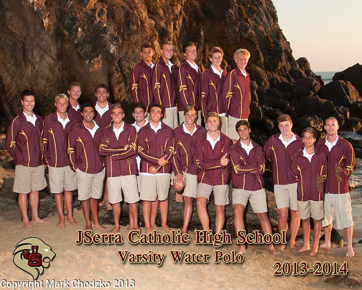 JSerra Catholic High School 2013 Varsity Water Polo Team.