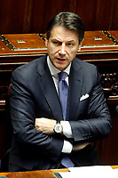 Giuseppe Conte during his speech <br /> Rome September 9th 2019. Lower Chamber. Programmatic speech of the new appointed Italian Premier at the Chamber of Deputies to explain the program of the yellow-red executive. After his speech the Chamber is called to the trust vote at the new Government. <br /> Foto  Samantha Zucchi Insidefoto