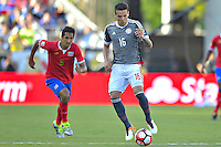 Action photo during the match Costa Rica vs Paraguay, Corresponding Group -A- America Cup Centenary 2016, at Citrus Bowl Stadium<br /> <br /> Foto de accion durante el partido Estados Unidos vs Colombia, Correspondiante al Grupo -A-  de la Copa America Centenario USA 2016 en el Estadio Citrus Bowl, en la foto: Celso Ortiz de Paraguay<br /> <br /> <br /> <br /> 04/06/2016/MEXSPORT/Isaac Ortiz.