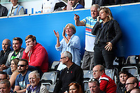 Pictured: Swansea supporters Saturday 15 August 2015<br /> Re: Premier League, Swansea City v Newcastle United at the Liberty Stadium, Swansea, UK.