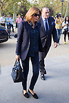 Fernando Fernadez Tapias y Nuria March visits San Isidro funeral home following the death of Miguel Boyer in Madrid, Spain. September 29, 2014. (ALTERPHOTOS/Victor Blanco)