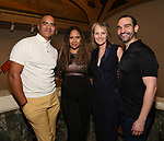 "Christopher Jackson, Tracie Toms, Helen Hunt and Javier Munoz attends the Opening Night performance afterparty for ENCORES! Off-Center production of ""Working - A Musical""  at New York City Center on June 26, 2019 in New York City."