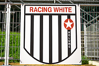 Logo Racing White Woluwe pictured during a female soccer game between FC Femina White Star Woluwe and Eendracht Aalst on the sixth matchday in the 2021 - 2022 season of Belgian Scooore Womens Super League , friday 8 th of october 2021  in Woluwe , Belgium . PHOTO SPORTPIX | KRISTOF DE MOOR