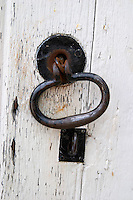 door handle and key hole domaine gachot-monot nuits-st-georges cote de nuits burgundy france