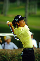 Golf prodigy and Honolulu teenager MIchelle Wie playing in a tournament at Pearl County Club, island of Oahu